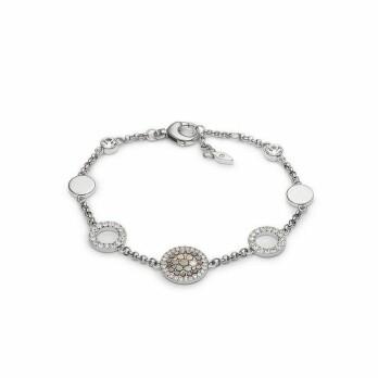 Bracelet Fossil en acier et cristaux