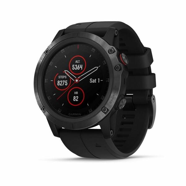 Montre connectée Garmin fenix 5X Plus Sapphire noire avec bracelet noir