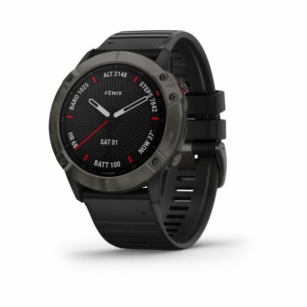 Montre connectée Garmin fenix 6X Sapphire avec bracelet noir