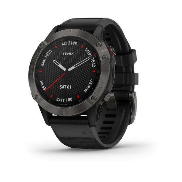 Montre connectée Garmin fenix 6 Pro avec bracelet noir
