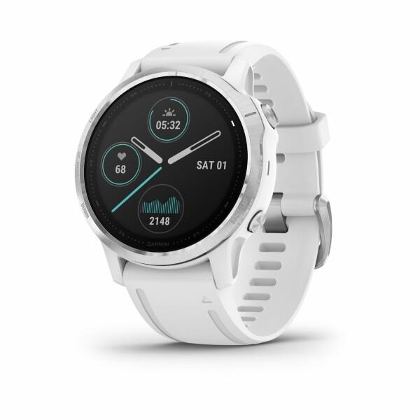 Montre connectée Garmin fenix 6S avec bracelet blanc