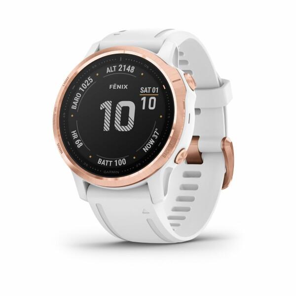 Montre connectée Garmin fenix 6S Pro avec bracelet blanc