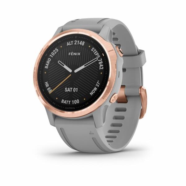Montre connectée Garmin fenix 6S Sapphire avec bracelet gris