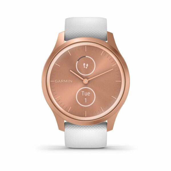 Montre Garmin vívomove Style Rose Gold/Silicone White Silicone