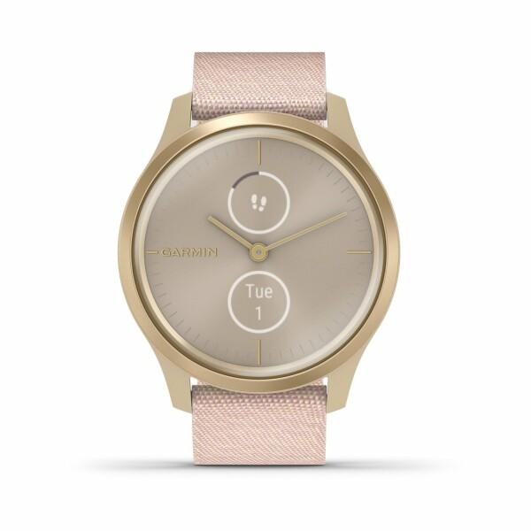 Montre Garmin vívomove Style Light Gold/Nylon Blush Pink