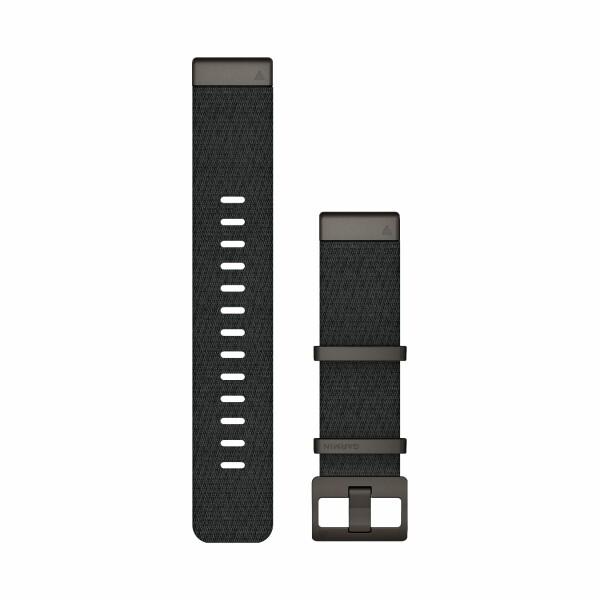 Bracelet de montre MARQ en nylon tissé Jacquard noir chiné