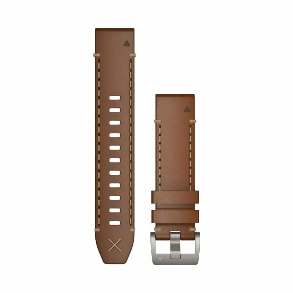 Bracelet de montre MARQ en cuir marron