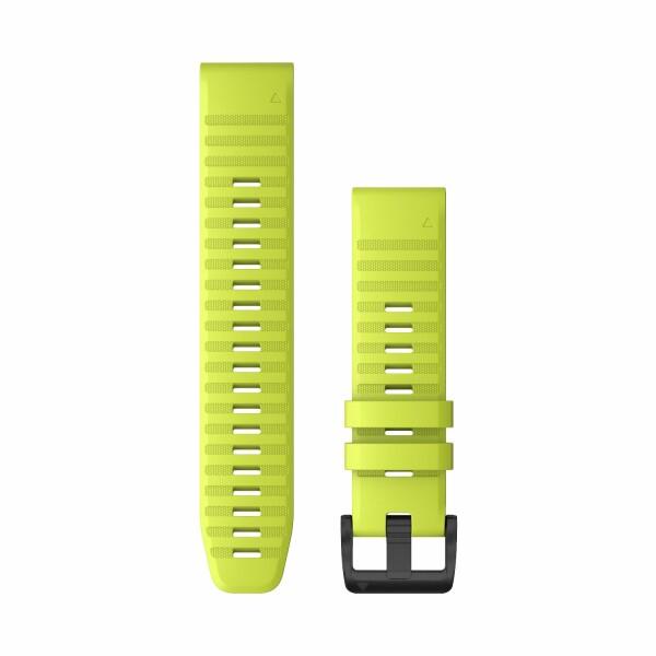 Bracelet de montre Garmin Quickfit 22 en silicone jaune vif