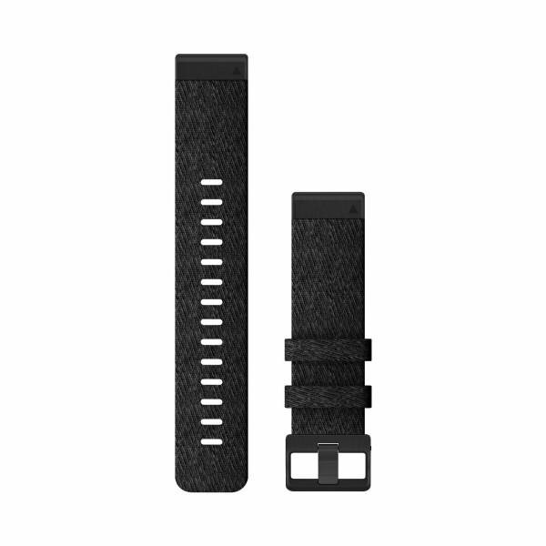 Bracelet de montre Garmin  en nylon noir chiné