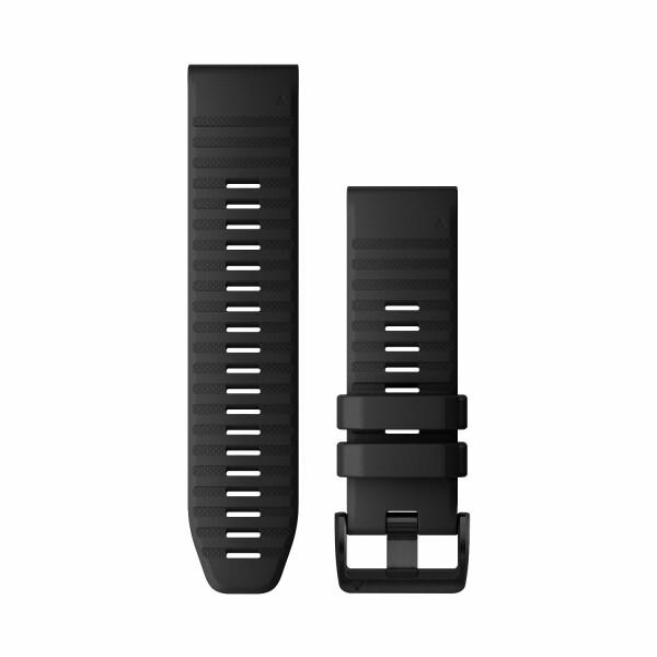 Bracelet de montre Garmin Quickfit 26 en silicone noir