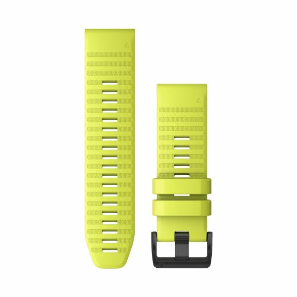Bracelet de montre Garmin Quickfit 26 en silicone jaune vif