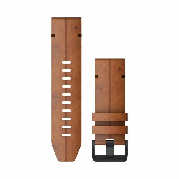 Bracelet de montre Garmin Quickfit 26 en cuir marron