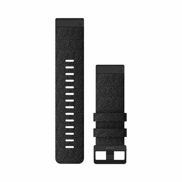 Bracelet de montre Garmin Quickfit 26 en nylon noir chiné