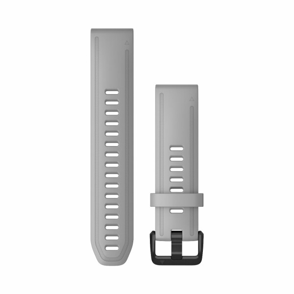 Bracelet de montre Garmin Quickfit 20 en silicone gris poudré