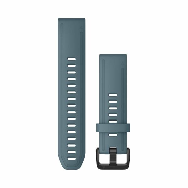 Bracelet de montre Garmin Quickfit 20 en silicone bleu lac