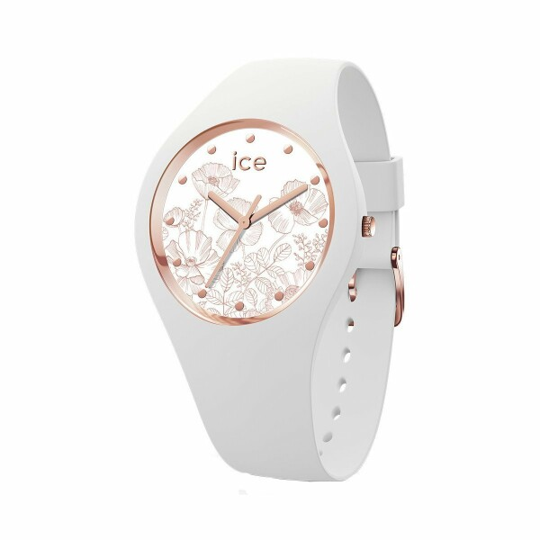 Montre Ice-Watch Ice Flower - Spring White - Small - 3H