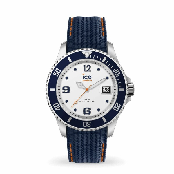 Montre Ice-Watch ICE Steel - White Blue - Large - 3h