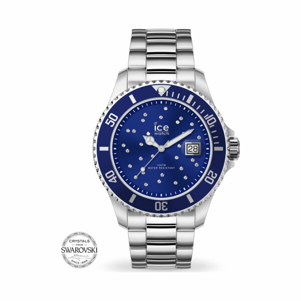 Montre Ice-Watch ICE steel - Blue cosmos silver - Medium - 3H