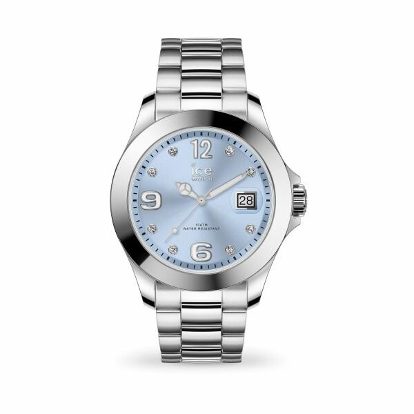 Montre Ice-Watch ICE Steel Light blue with stones Medium