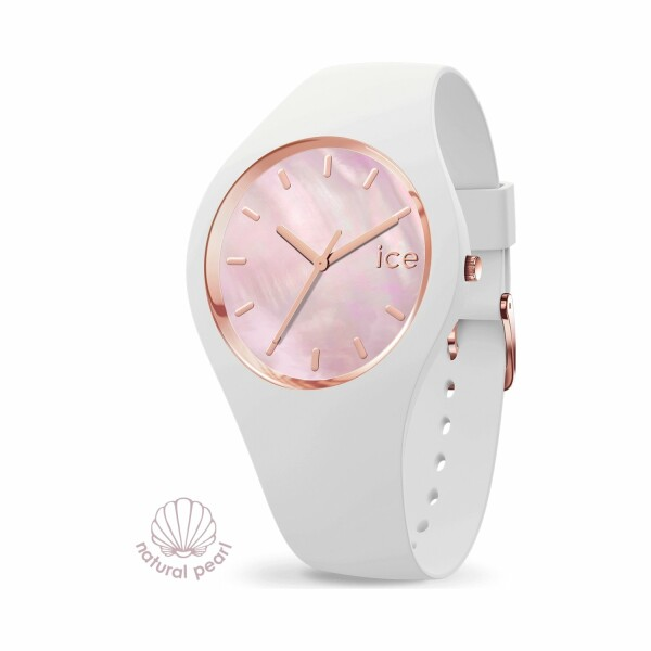 Montre Ice-Watch ICE pearl - White pink - Small - 3H