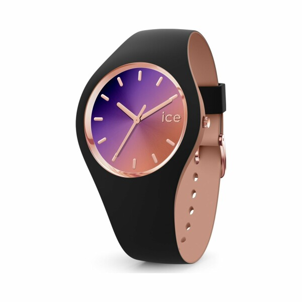 Montre Ice-Watch ICE duo chic - Black purple - Medium - 3H