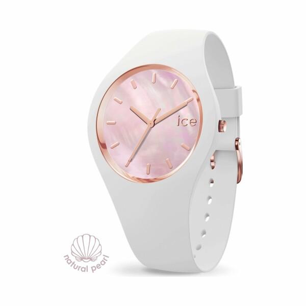 Montre Ice-Watch ICE pearl - White pink - Medium - 3H