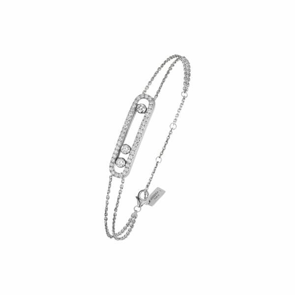 Bracelet Messika Move Classique Pavé en or blanc et diamants