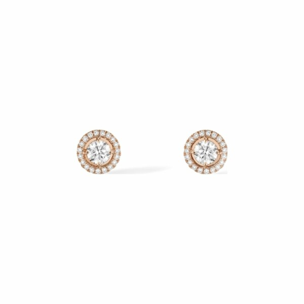 Boucles d'oreilles Messika Joy en or rose et diamants