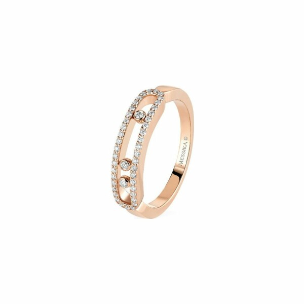Bague Messika Move Classique Baby Move en or rose et diamants