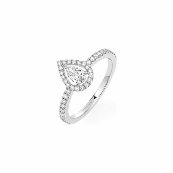 Bague Messika Joy en or blanc et diamant poire