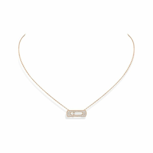 Collier Messika Move Uno en or rose et diamants