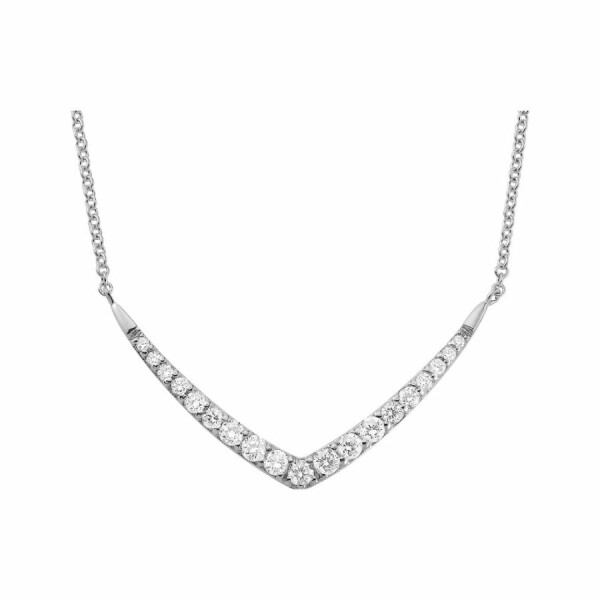 Collier en or blanc et diamants de 0.29ct