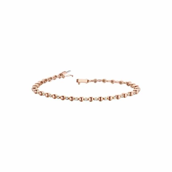 Bracelet en or rose et diamant de 0.65ct