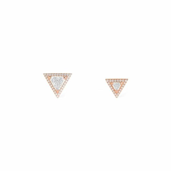 Boucles d'oreilles Messika Théa Studs en or rose et diamants