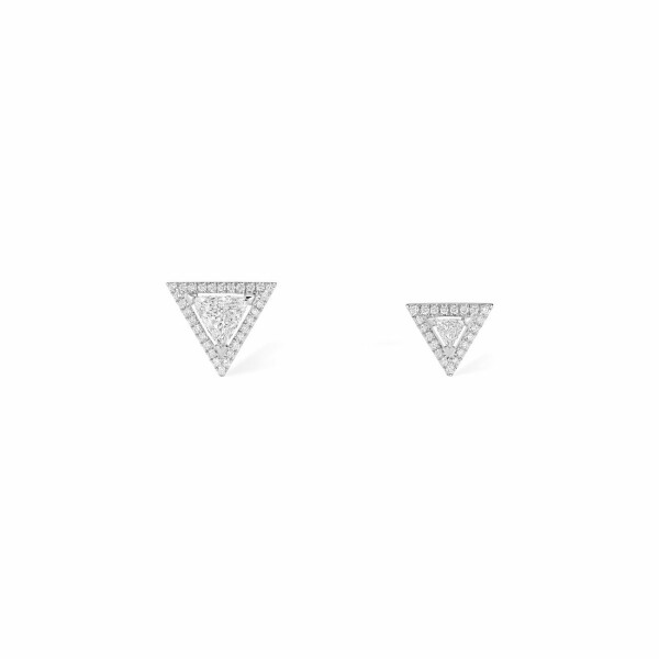 Boucles d'oreilles Messika Théa en or blanc et diamants
