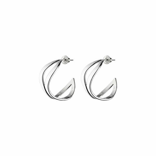 Boucles d'oreilles créoles Christofle Rivage Petit modèle en argent