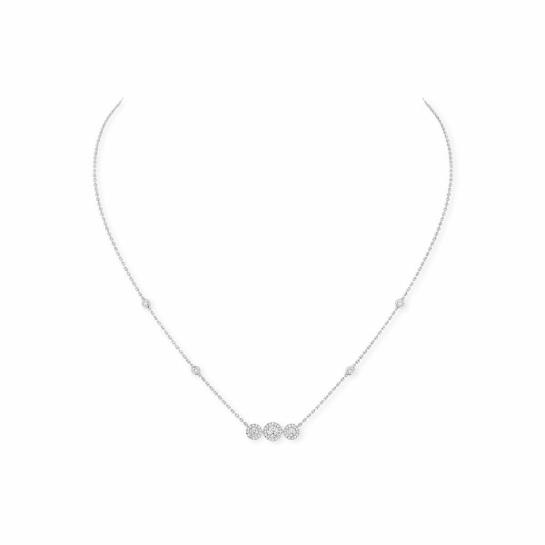 Collier Messika Joy Trilogy en or blanc et diamants