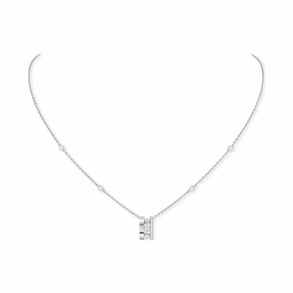 Pendentif sur Chaîne Messika Move Romane en or blanc et diamants