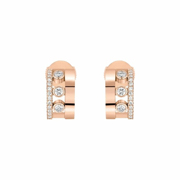 Boucles d'oreilles Messika Move Romane en or rose et diamants