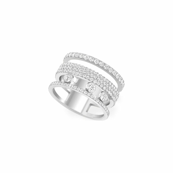 Bague Messika Move Romane GM en or blanc et diamants