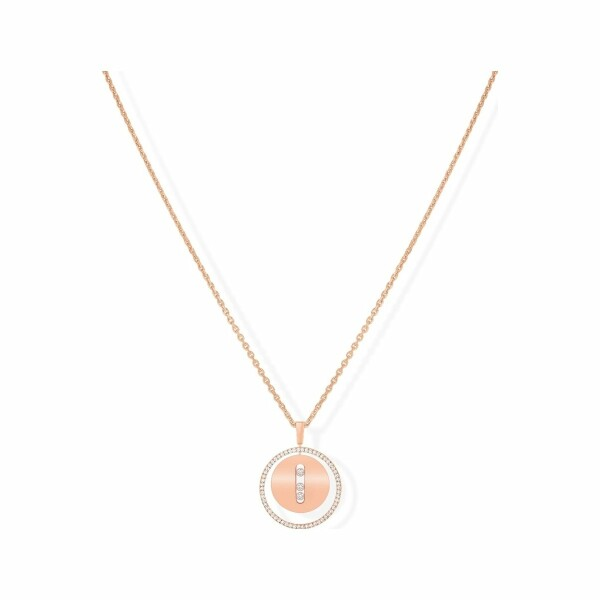 Collier Messika Lucky Move MM en or rose et diamants