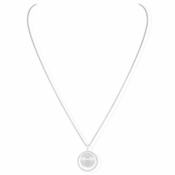 Collier Messika Lucky Move MM en or blanc et diamants