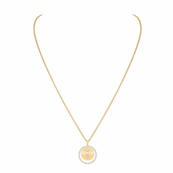 Collier Messika Lucky Move MM en or jaune et diamants