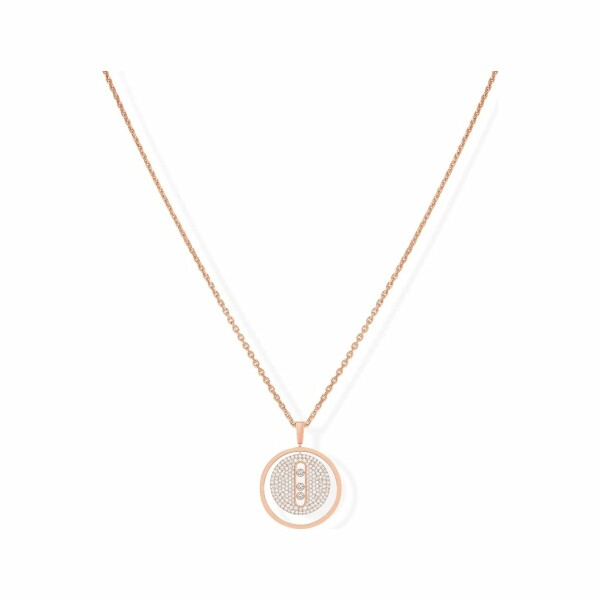 Collier Messika Lucky Move MM pavé en or rose et diamants