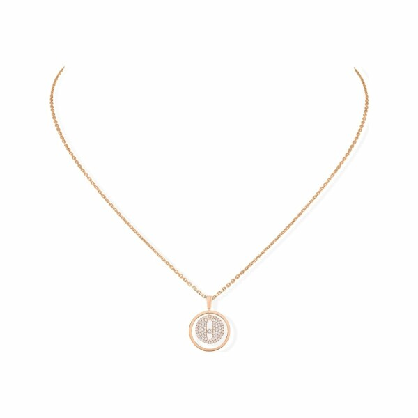 Collier Messika Lucky Move PM pavé en or rose et diamants