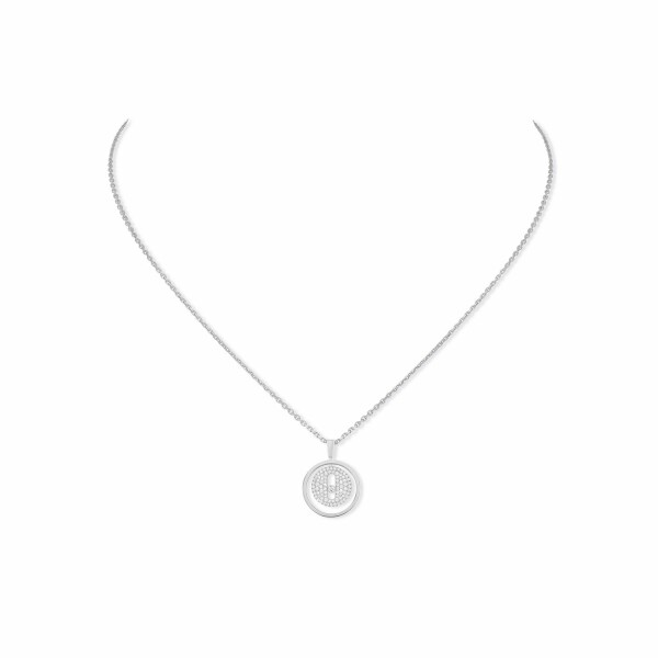 Collier Messika Lucky Move PM pavé en or blanc et diamants