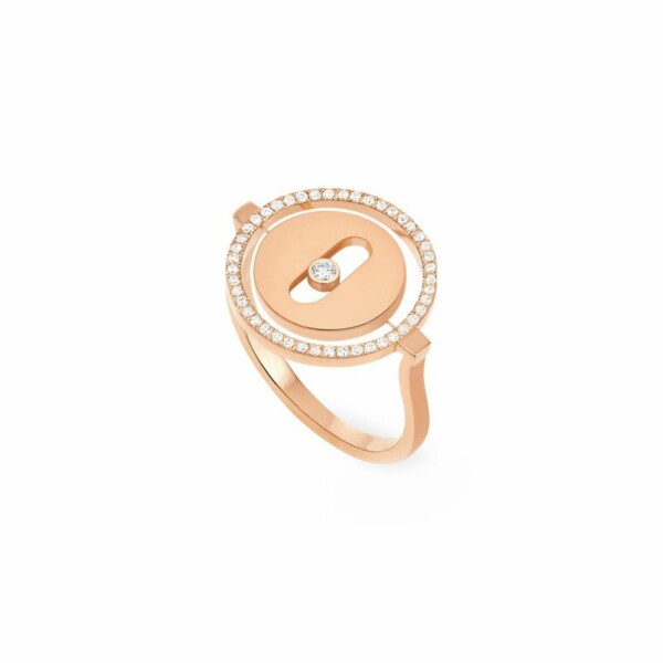 Bague Messika Lucky Move PM en or rose et diamants