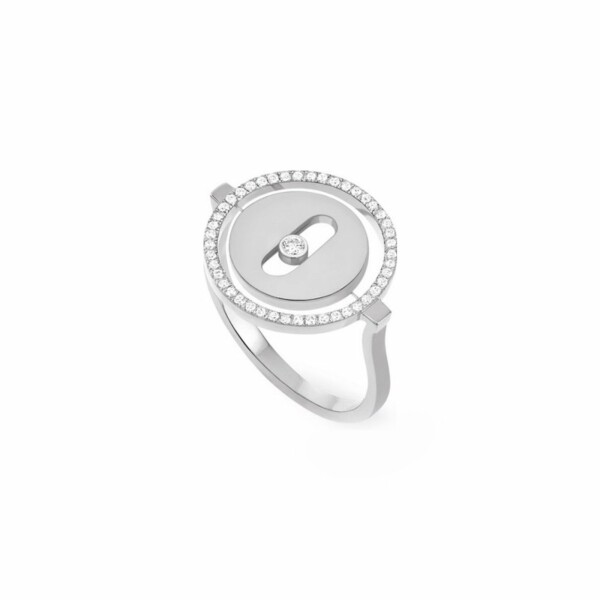 Bague Messika Lucky Move PM en or blanc et diamants