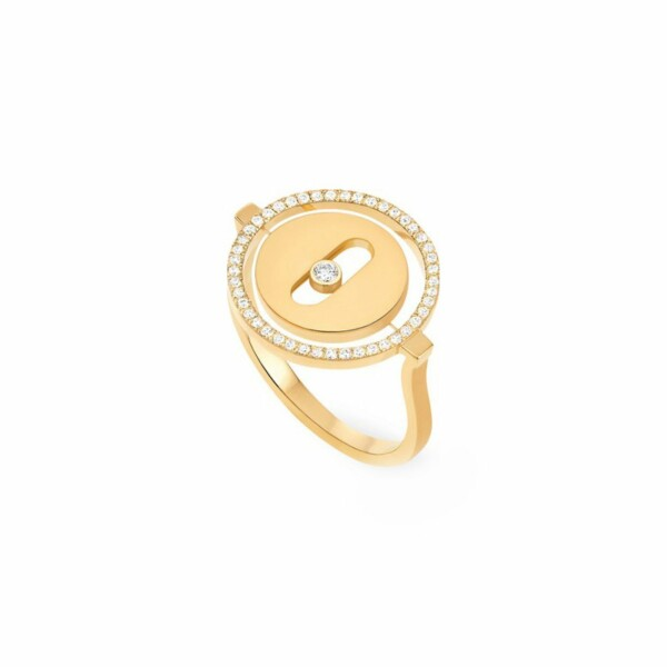 Bague Messika Lucky Move PM en or jaune et diamants