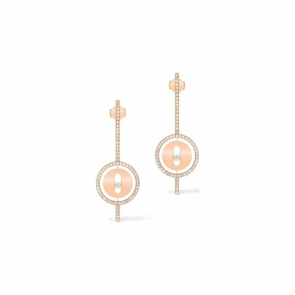 Boucles d'oreilles pendantes Messika Lucky Move Arrow en or rose et diamants